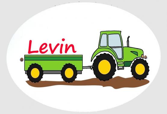 Personalisiertes Türschild Traktor mit Wunschname