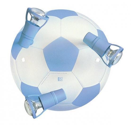 Deckenleuchte Fussball hellblau/weiß