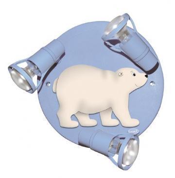 Deckenrondell Eisbär hellblau