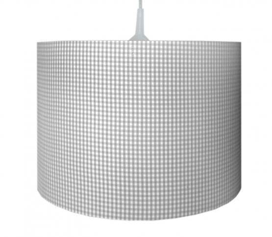 Waldi Pendellampe Vichy Karo grau-weiß