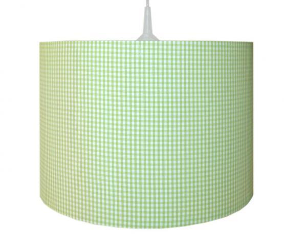 Waldi Pendelleuchte Vichy Karo grün-weiß