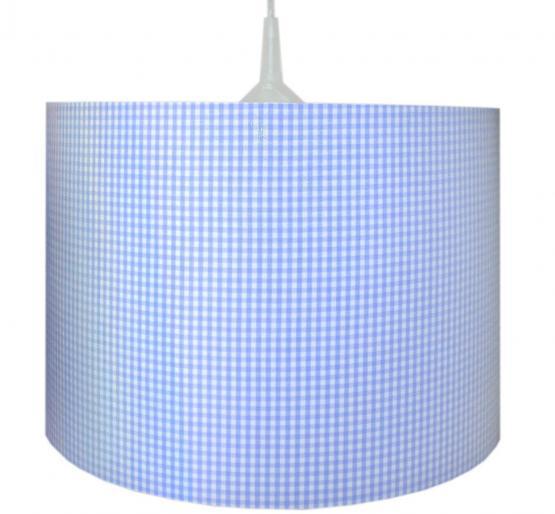 Waldi Pendellampe Vichy Karo hellblau-weiß