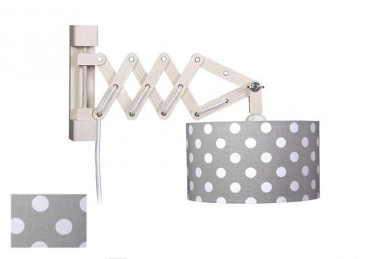 waldi scherenleuchte dots grau mit schalter wandlampen. Black Bedroom Furniture Sets. Home Design Ideas