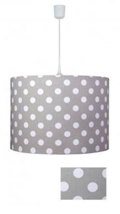 waldi pendelleuchte dots grau pendelleuchten mit stoff bezogen. Black Bedroom Furniture Sets. Home Design Ideas