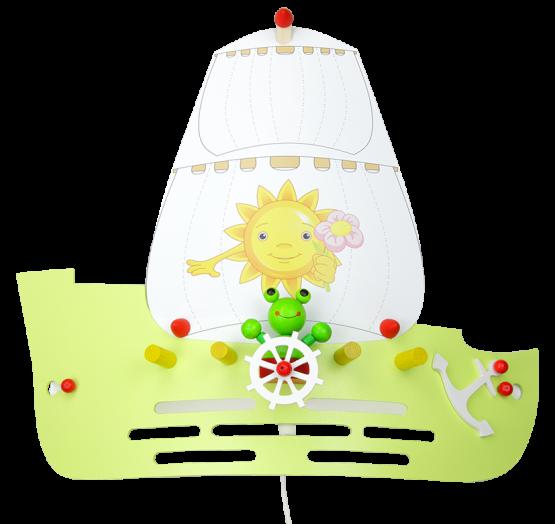 Elobra Wandlampe Segelschiff Frösche