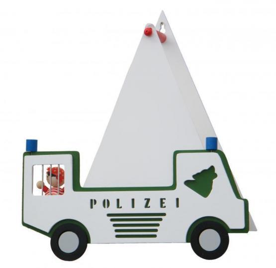 Elobra Wandleuchte Polizeiauto grün