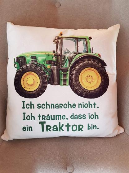 anti schnarch kissen traktor trecker spruch ich schnarche nicht geschenk geburtstag. Black Bedroom Furniture Sets. Home Design Ideas