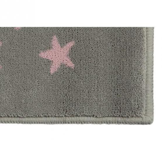 lorena canals kinderteppich kleine sterne grau rosa lorena canals teppiche. Black Bedroom Furniture Sets. Home Design Ideas