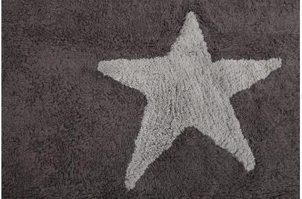 lorena canals kinderteppich drei sterne grau waschbare kinderteppiche. Black Bedroom Furniture Sets. Home Design Ideas