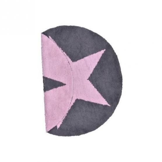 lorena canals kinderteppich stern rund rosa grau lorena canals teppiche. Black Bedroom Furniture Sets. Home Design Ideas