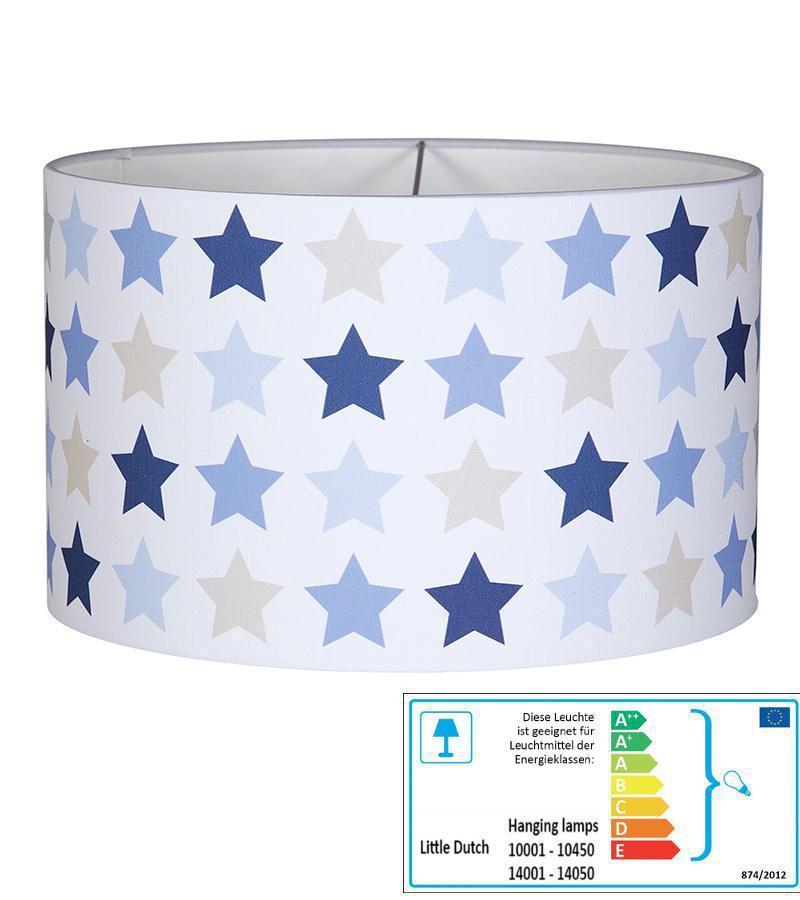 Kinderzimmerlampe Stern dunkelblau | Pendelleuchten mit Stoff ...