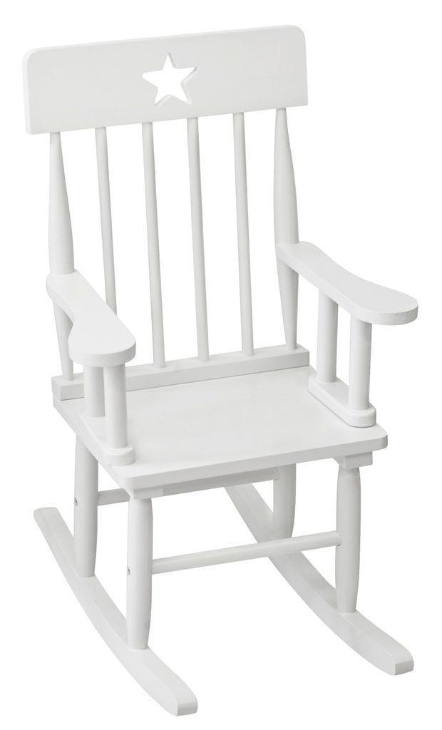 kinder schaukelstuhl star wei tisch und stuhl im kinderlampenland kaufen. Black Bedroom Furniture Sets. Home Design Ideas