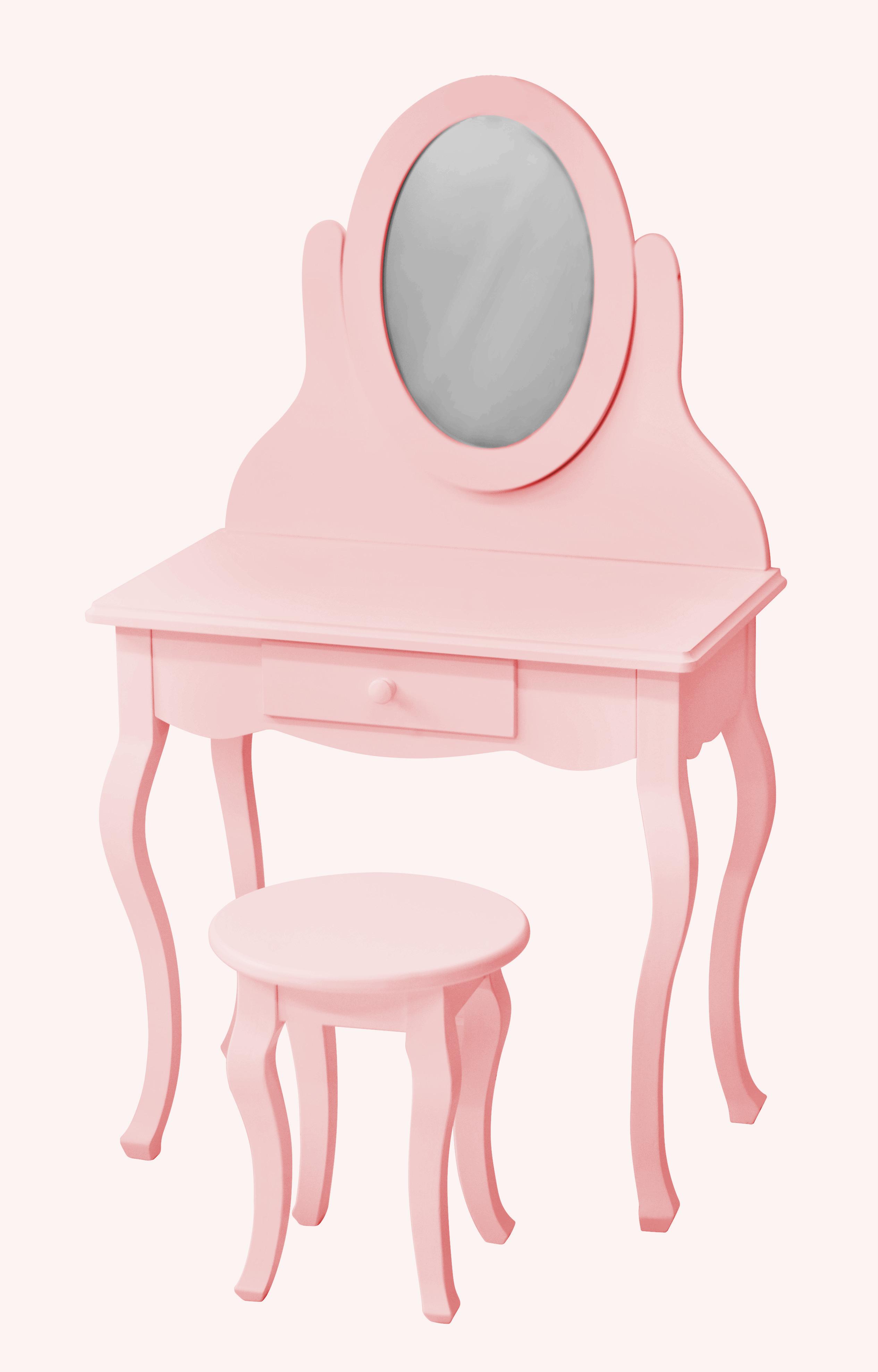 schminktisch rosa inkl hocker jetzt g nstig beim. Black Bedroom Furniture Sets. Home Design Ideas