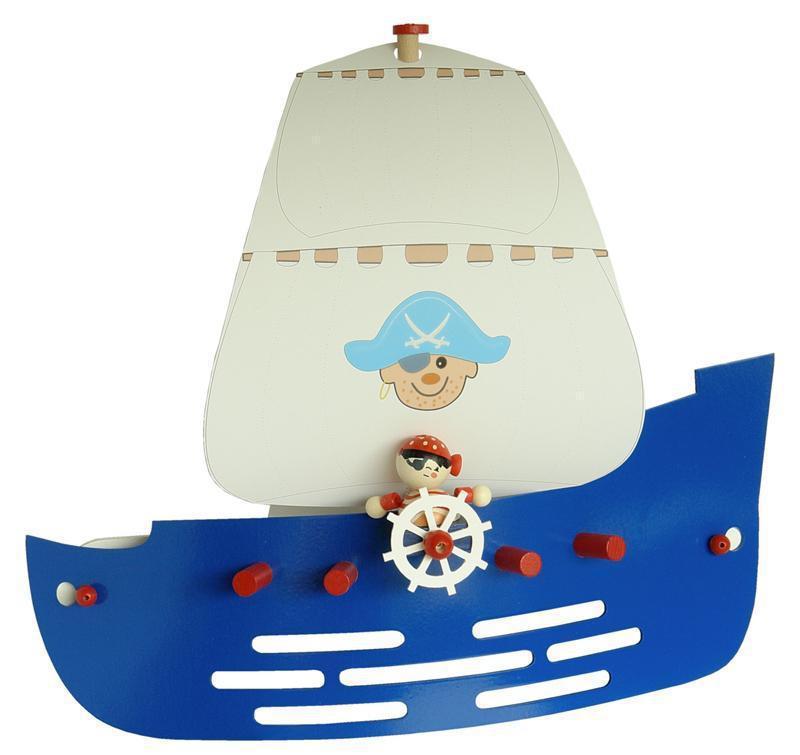 elobra wandlampe piratenschiff blau wandlampen im kinderlampenland kaufen. Black Bedroom Furniture Sets. Home Design Ideas
