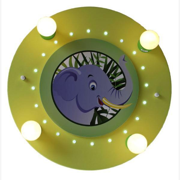 elobra led deckenleuchte elefant lindgr n led leuchten. Black Bedroom Furniture Sets. Home Design Ideas