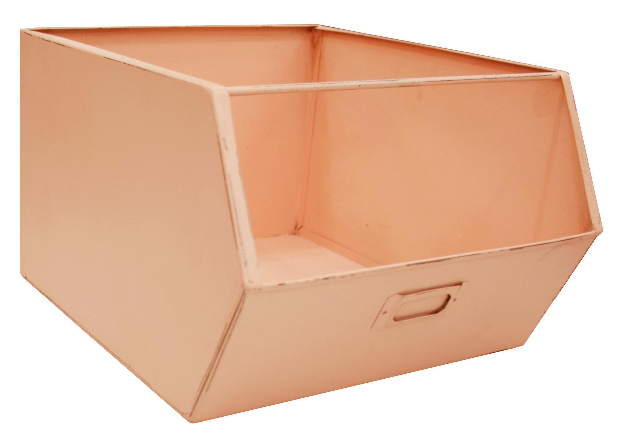 kidsdepot aufbewahrungsbox metall rosa ordnung im. Black Bedroom Furniture Sets. Home Design Ideas