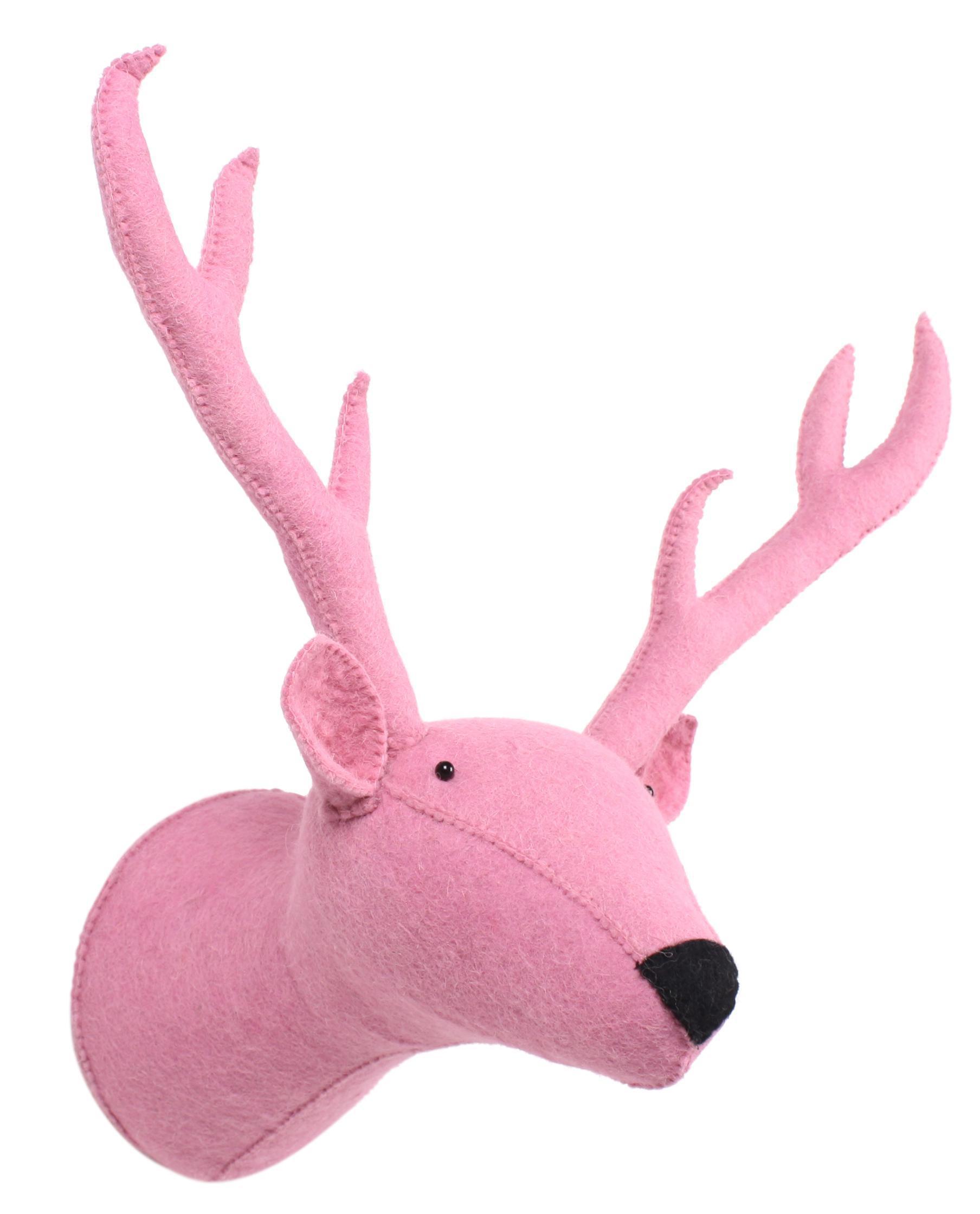 Kidsdepot Filz Wand Dekoration Rentier Pink