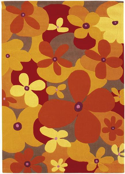 Teppich Colourful Summer Flower orange  The Young im