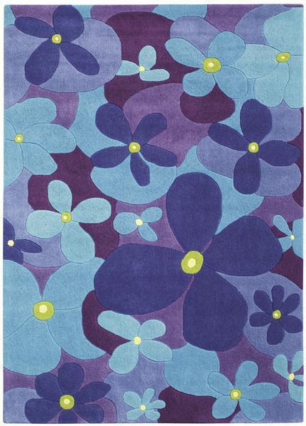 Teppich Colourful Summer Flower blau  The Young im