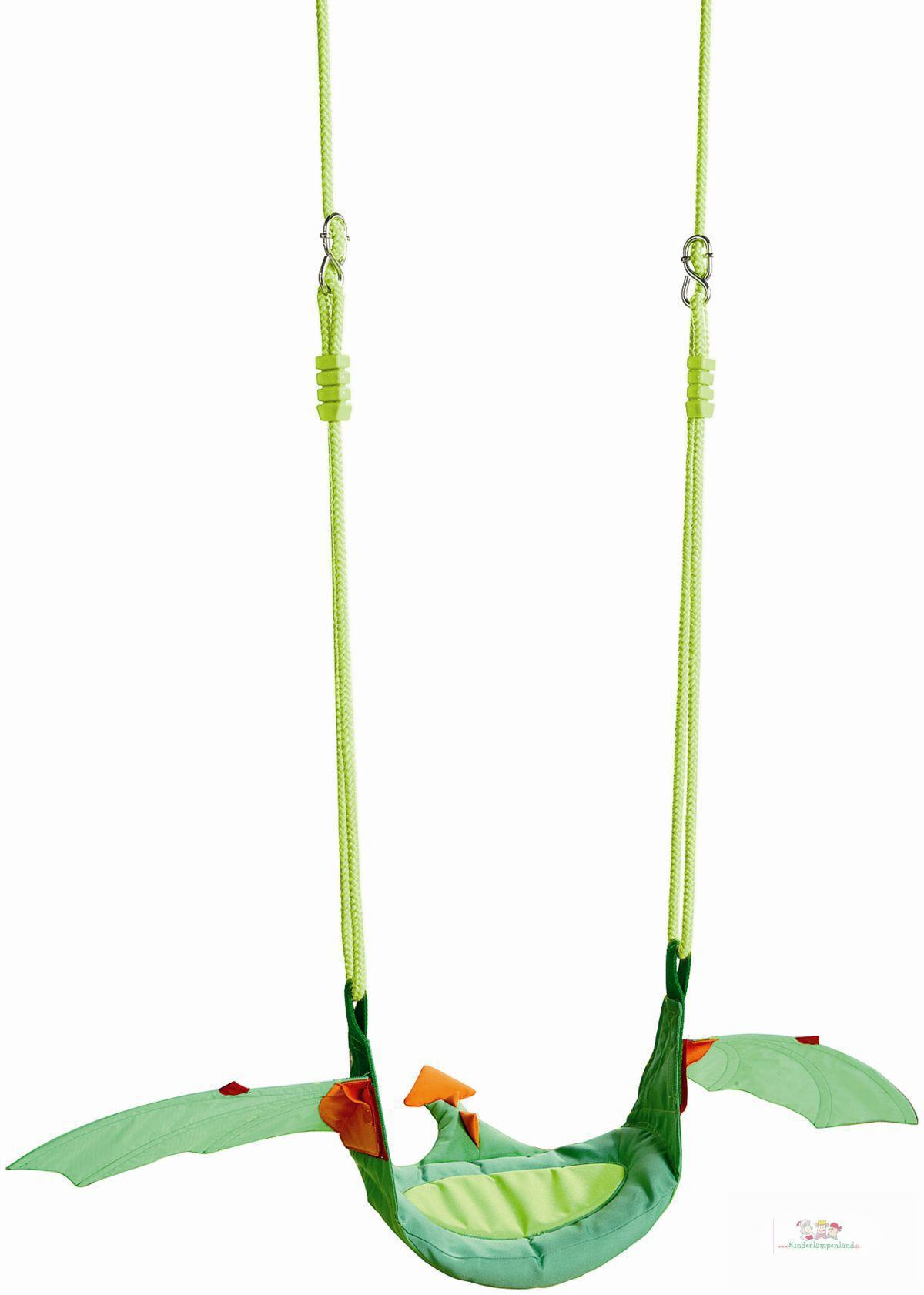 Haba Kinderschaukel Kleiner Drache grün | Spielzelte-Schaukeln ...