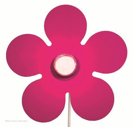 wandleuchte happy flower satin magenta wandlampen im kinderlampenland kaufen. Black Bedroom Furniture Sets. Home Design Ideas
