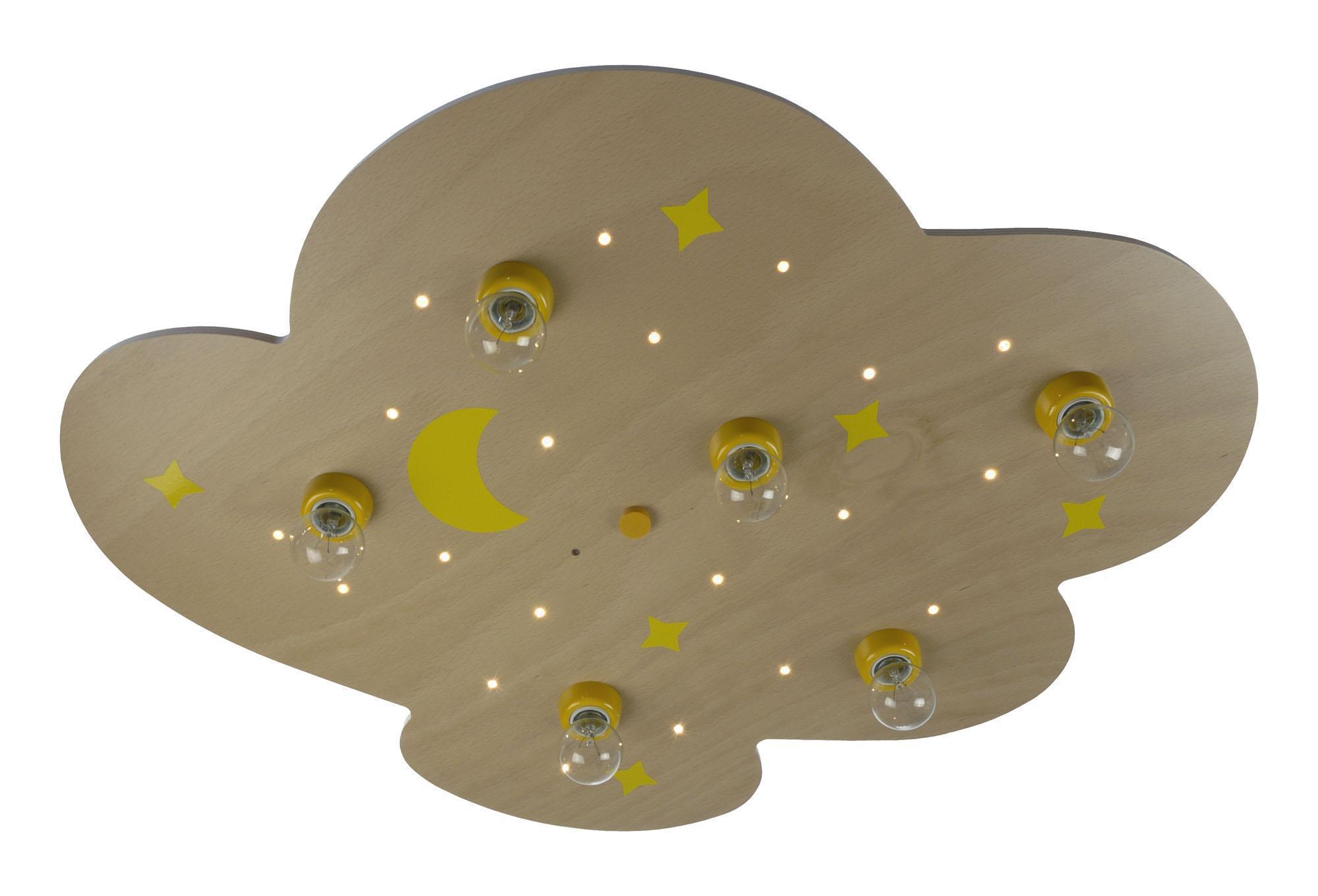niermann deckenlampe wolke xxl mit sternenhimmel buche led kinderlampen im. Black Bedroom Furniture Sets. Home Design Ideas
