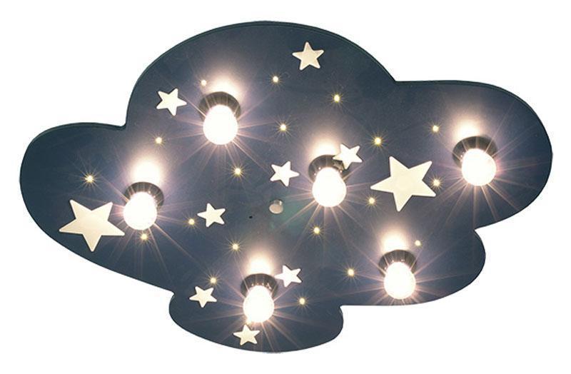 Niermann deckenlampe wolke xxl mit fluoriszierenden for Sternen lampe kinderzimmer
