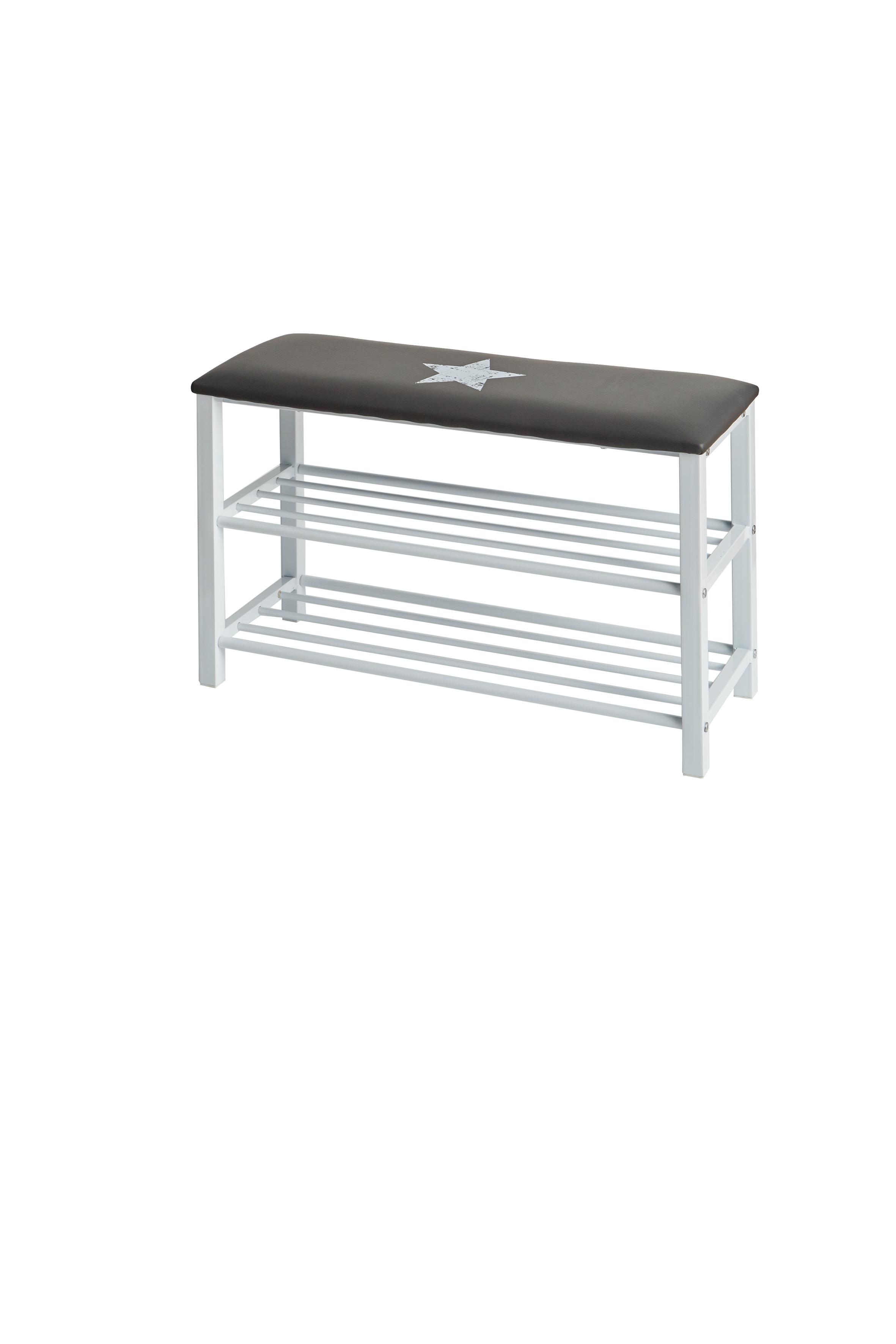 sitzbank schuhbank stern mit sitzkissen ordnung im kinderzimmer im kinderlampenland. Black Bedroom Furniture Sets. Home Design Ideas