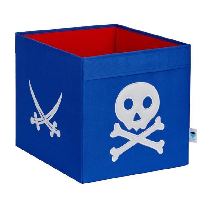 Spielzeugkiste Pirat blau/weiß XL | Ordnung im Kinderzimmer ...