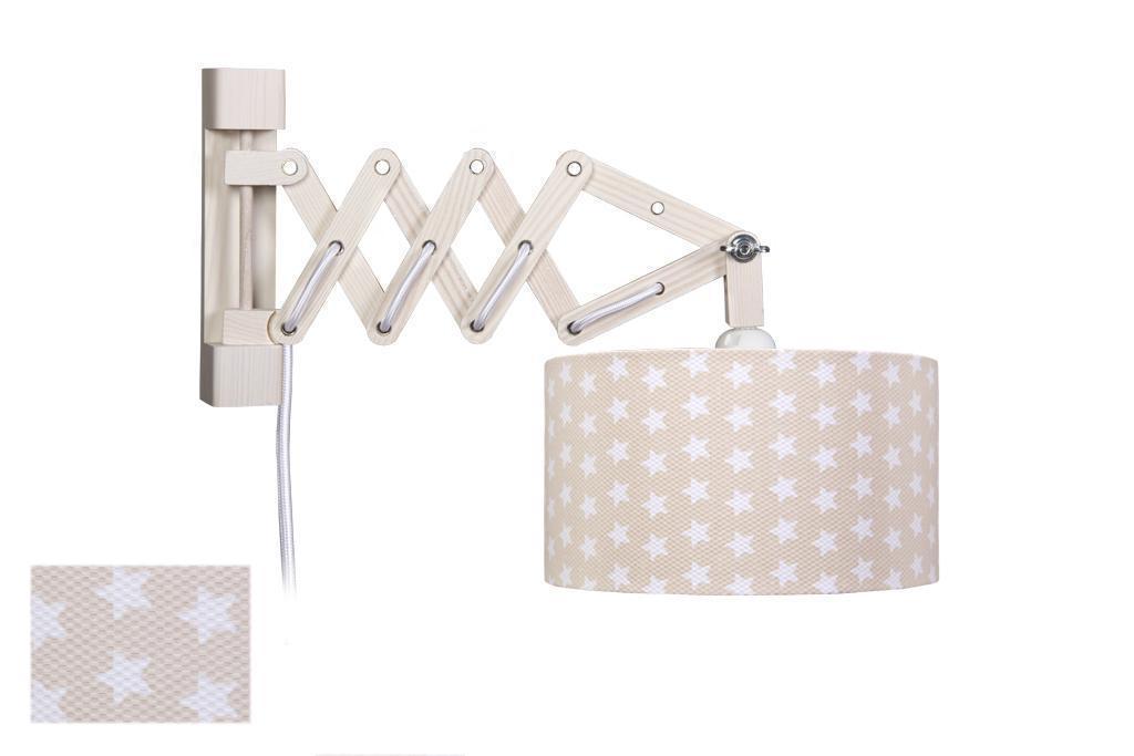 waldi scherenleuchte sternchen beige mit schalter. Black Bedroom Furniture Sets. Home Design Ideas