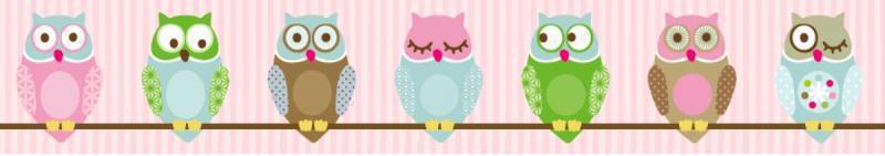 anna wand bord re kleine nachteulen rosa wandsticker fensterbilder im kinderlampenland. Black Bedroom Furniture Sets. Home Design Ideas
