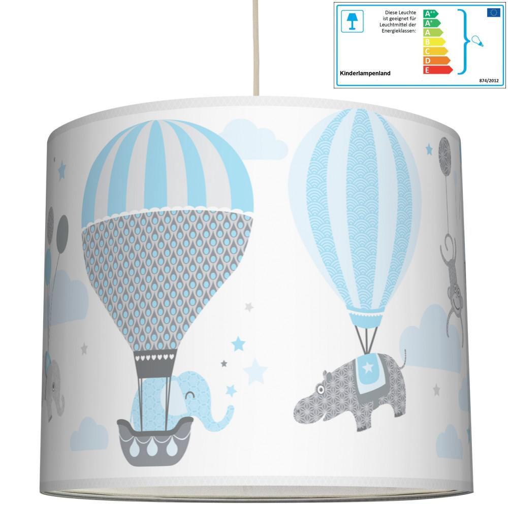 anna wand pendellampe ballons hellblau grau neu. Black Bedroom Furniture Sets. Home Design Ideas
