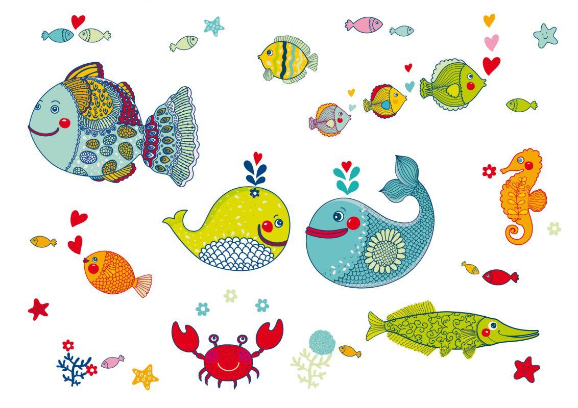 Anna wand wandsticker unterwasserwelt bunt jetzt g nstig for Kinderzimmer unterwasserwelt