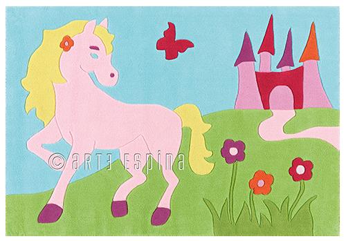 Arte Espina Kinderteppich Pferd  Kids im Kinderlampenland