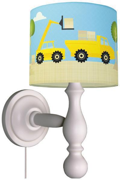 anna wand wandleuchte baustelle blau gelb wandlampen im kinderlampenland. Black Bedroom Furniture Sets. Home Design Ideas