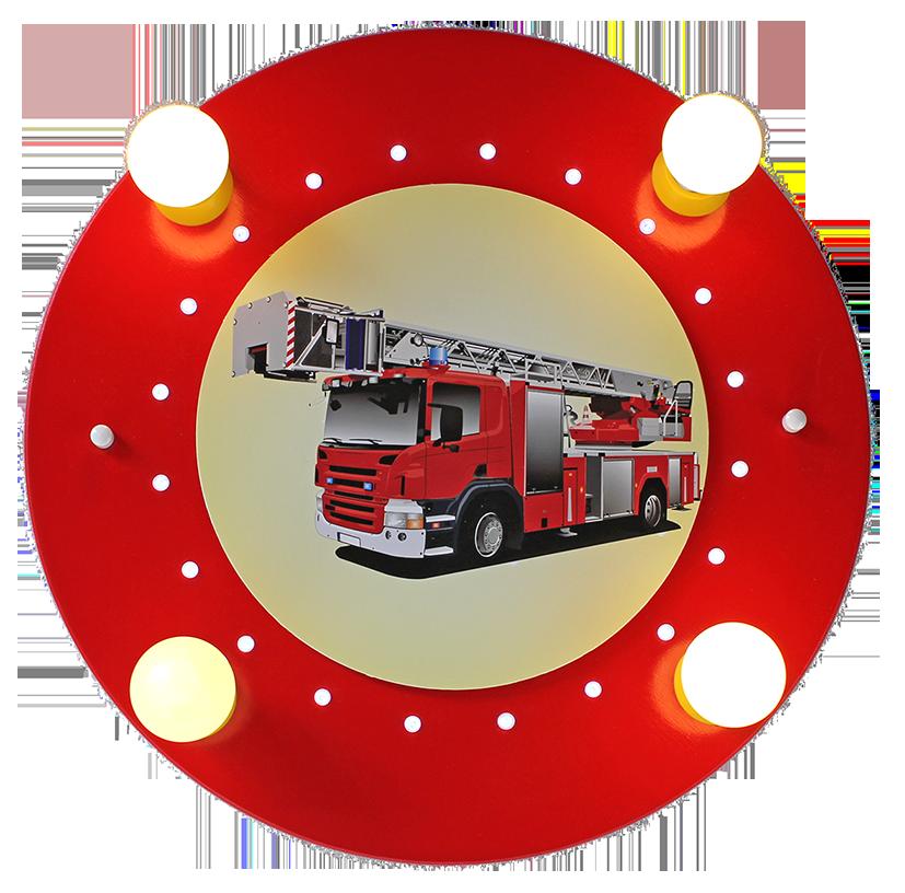 Elobra LED Deckenlampe Feuerwehr rot | Elobra Kinderleuchten ...