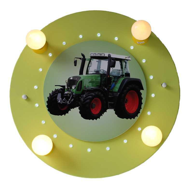 Elobra led deckenlampe traktor fendt gr n elobra for Traktor lampe kinderzimmer