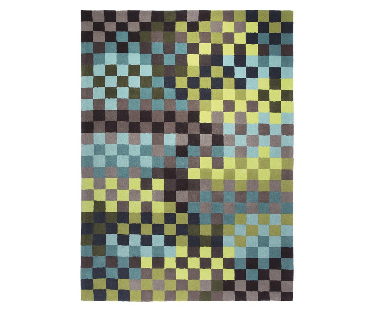 Esprit Teppich Pixel grün  Esprit World Culture im