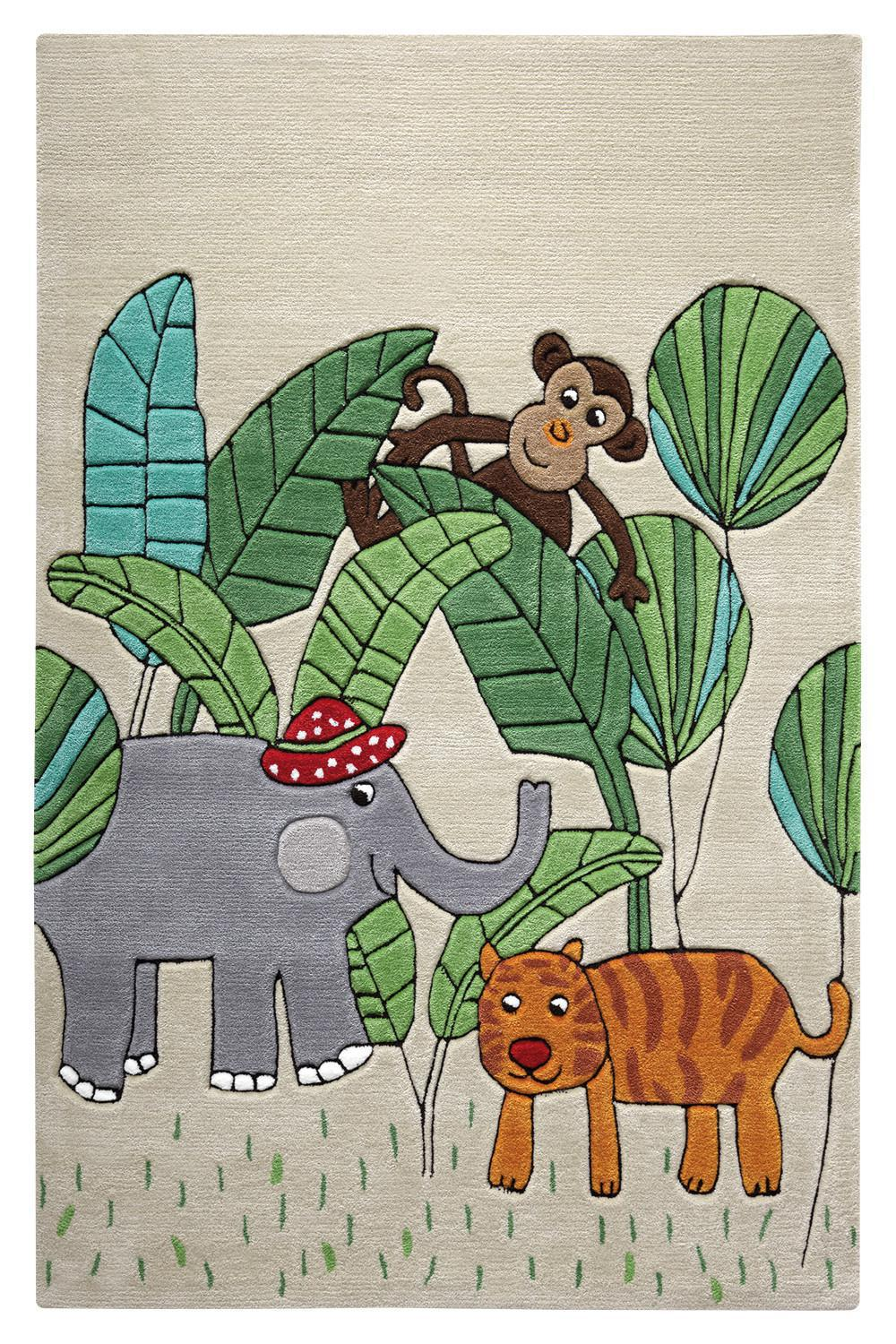 Kinderteppich jungle friends beige smart kids im - Babyzimmer jungle ...