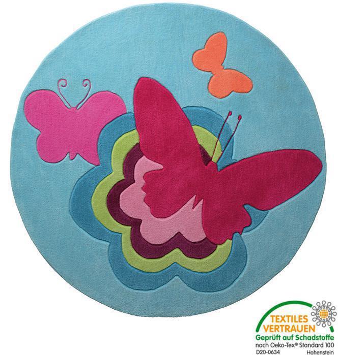 esprit kinderteppich butterflies schmetterling gr e. Black Bedroom Furniture Sets. Home Design Ideas