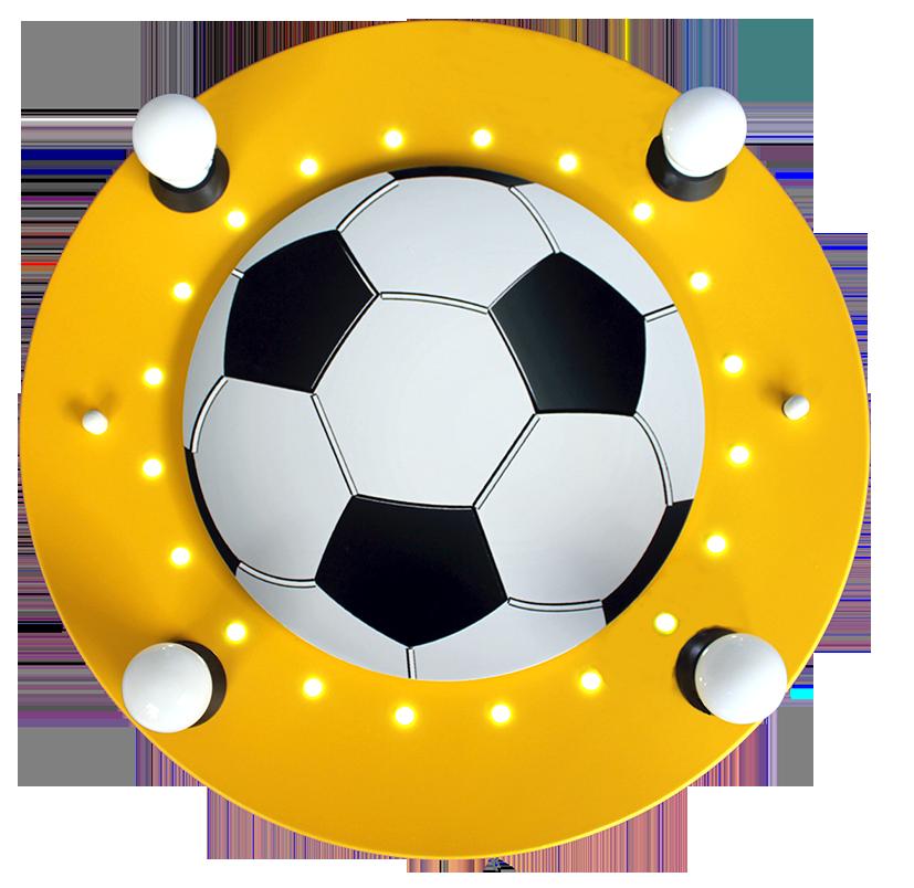 Elobra Led Kinderlampe 3d Fussball Gelb