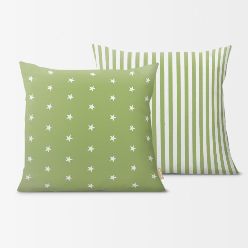 kissen sterne wei gr n kuschelkissen im. Black Bedroom Furniture Sets. Home Design Ideas