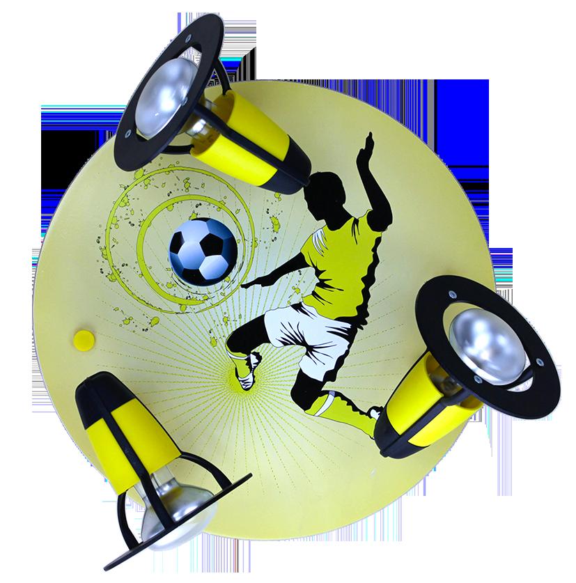 elobra deckenleuchte fu ball soccer schwarz gelb. Black Bedroom Furniture Sets. Home Design Ideas