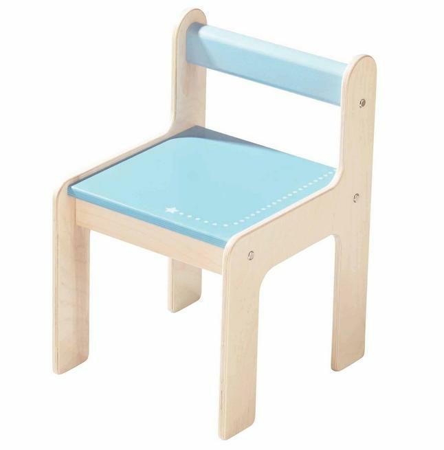 haba kinderstuhl puncto blau tisch und stuhl im kinderlampenland kaufen. Black Bedroom Furniture Sets. Home Design Ideas