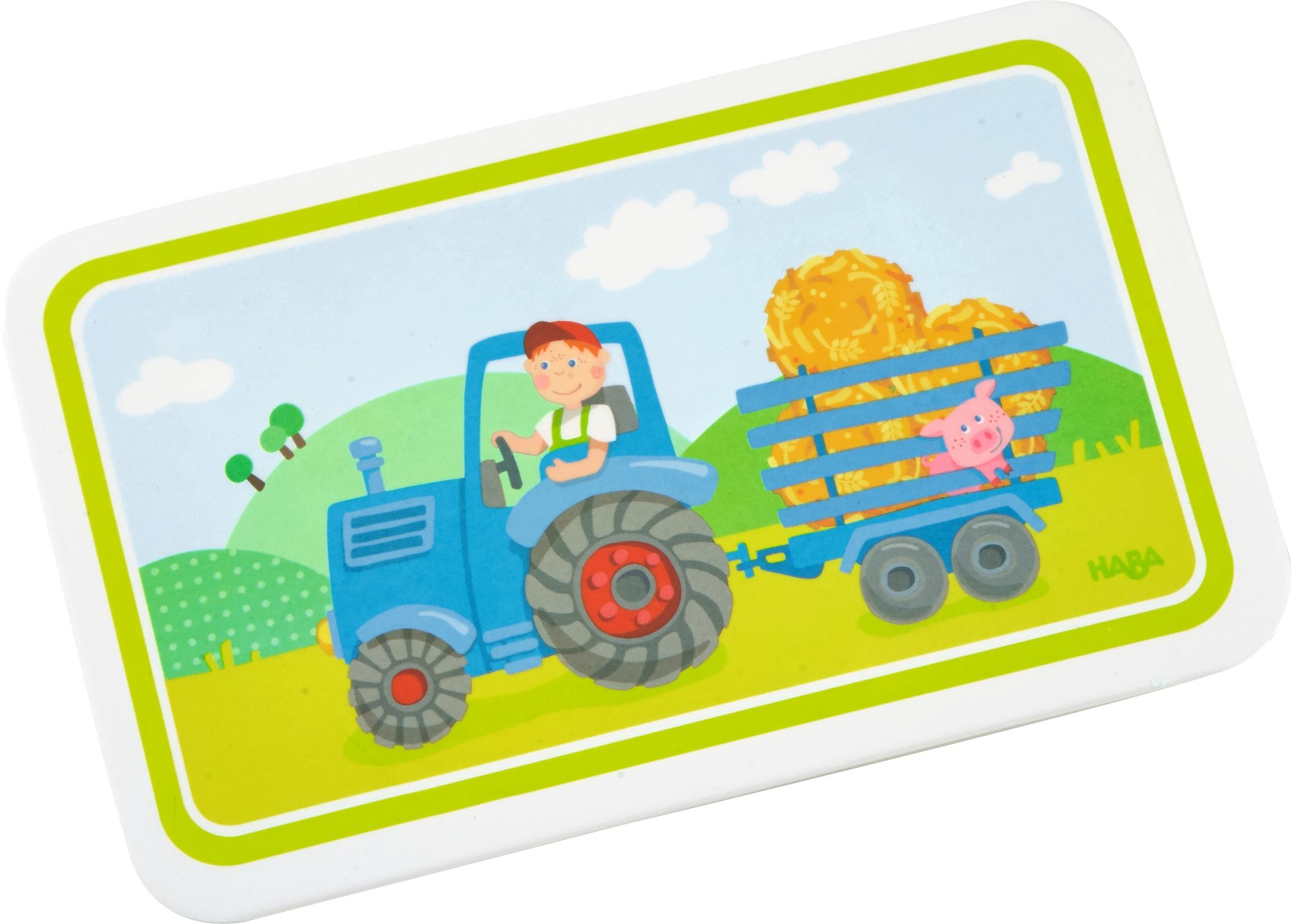 haba melamin brettchen traktor haba kindergeschirr im. Black Bedroom Furniture Sets. Home Design Ideas