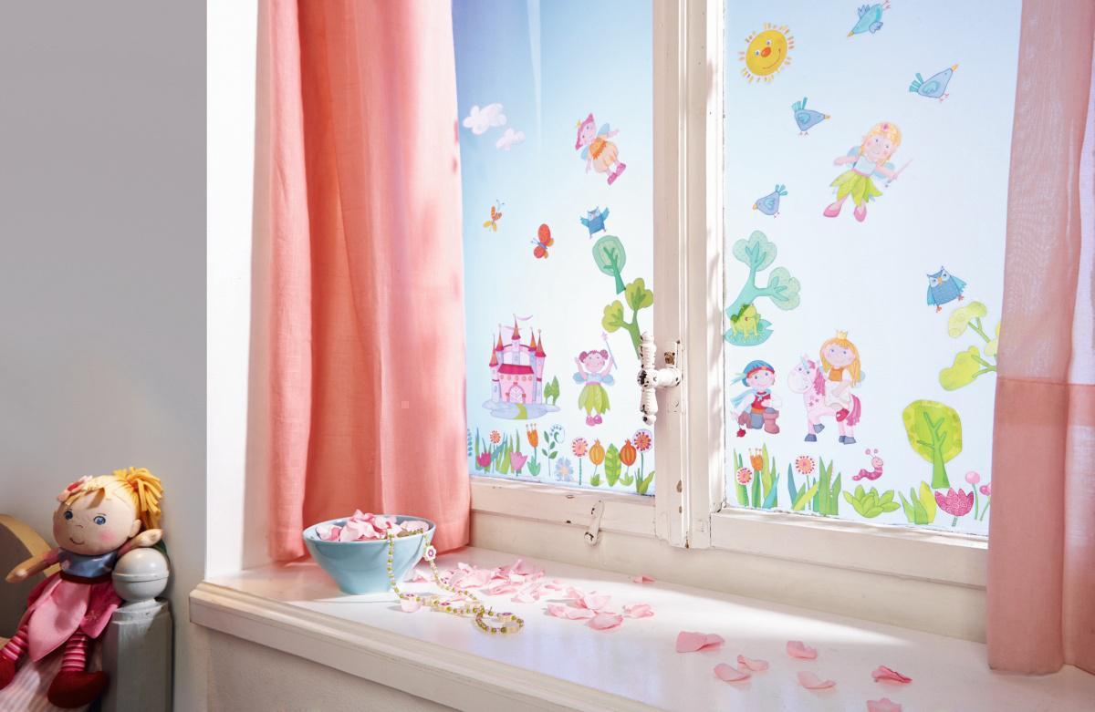 Haba fensterbilder feengarten wandsticker for Fensterbilder kinderzimmer
