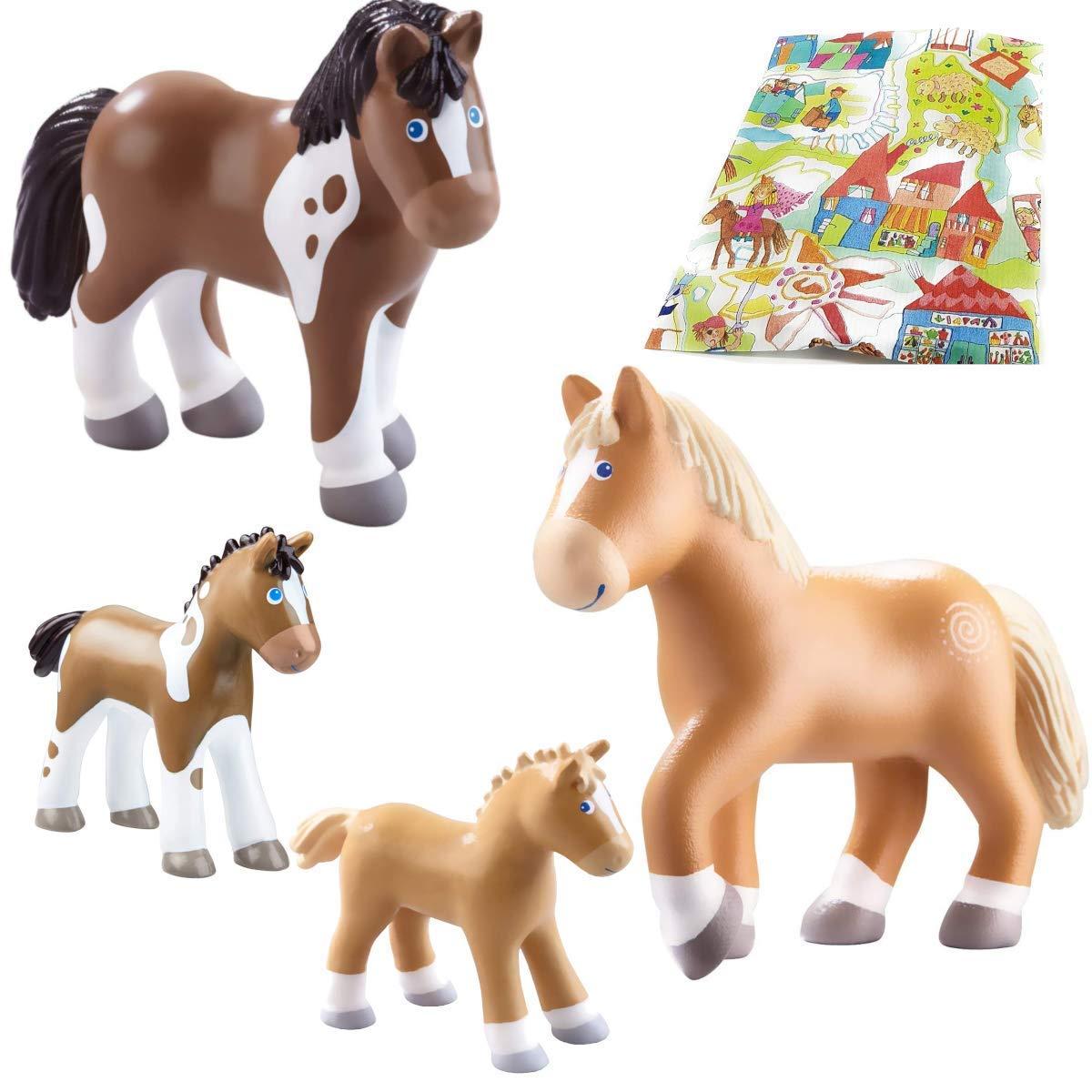 HABA Little Friends Pferd Tara + Fohlen Lissi Pferd Tara