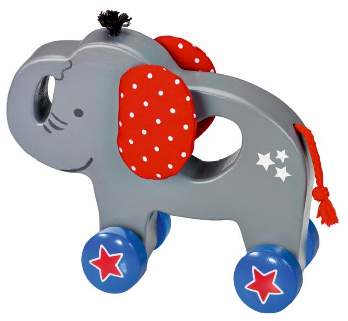 holz schiebetier elefant babygl ck nachzieh schiebespielzeug im kinderlampenland. Black Bedroom Furniture Sets. Home Design Ideas