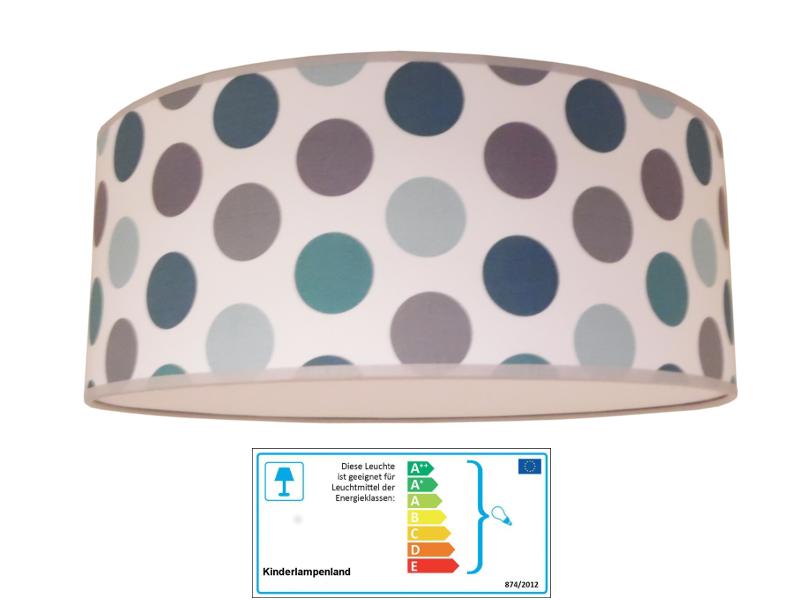 juuldesign deckenlampe dots grau blau sonstige kinderlampen im kinderlampenland. Black Bedroom Furniture Sets. Home Design Ideas