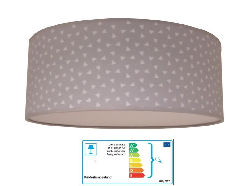 juuldesign deckenlampe dreiecke grau neu im kinderlampenland kaufen. Black Bedroom Furniture Sets. Home Design Ideas